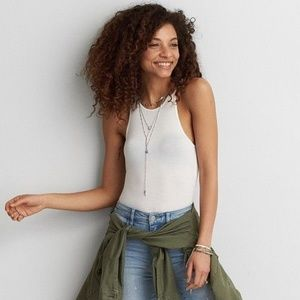 American Eagle Soft & Sexy High Neck Tank Top
